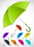 Colorful umbrellas set. Vector Royalty Free Stock Image