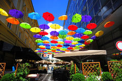 Colorful umbrellas Stock Image
