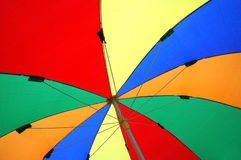Colorful umbrellas tents. View from below of colorful umbrellas tents Stock Photography