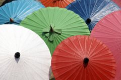 Colorful umbrellas texture background Stock Images