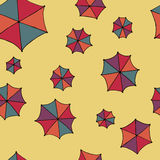 Colorful umbrellas vector. Seamless pattern background. Stock Photo