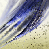 Colorful underwater dandelion seeds with bubbles Royalty Free Stock Images
