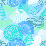 Colorful Underwater Ocean Life Seamless Pattern Royalty Free Stock Photo
