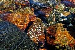 Colorful underwater rocks Royalty Free Stock Photography