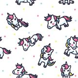 Colorful Unicorn Seamless Pattern royalty free illustration
