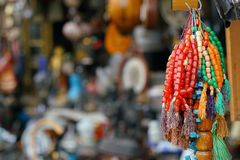 colorful komboloi in the market royalty free stock images