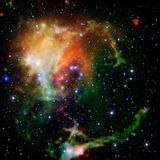 Colorful Universe filled with stars nebula and galaxy Stock Photos