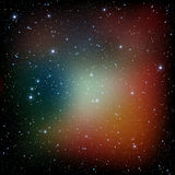 Colorful Universe filled with stars nebula and galaxy Stock Image