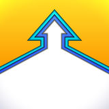 Colorful up arrow with yellow and blue paper Stock Photography