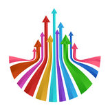 Colorful up arrows prism vector abstract design Stock Photos