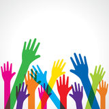 Colorful up hand background Stock Image