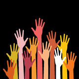 Colorful up hands Royalty Free Stock Photo