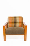 Colorful upholstery wooden armchair Royalty Free Stock Photos