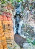 Colorful Upper Falls in Bandelier National Park Stock Image
