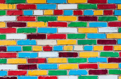 Colorful urban brick wall as background Stock Images