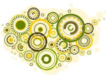 Colorful urban circles. Design of colorful circles background Stock Photo