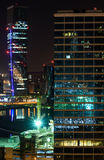 Colorful urban night scene in Dubai Stock Photography