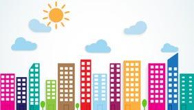 Colorful urban scene Stock Photo