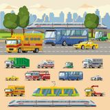 Colorful Urban Transport Concept Royalty Free Stock Photography