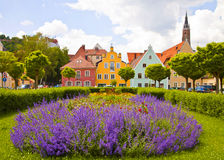Colorful urban view of Landshut, Germany Stock Image