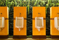 Colorful of urinals Stock Photography
