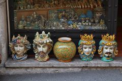 Colorful urns Royalty Free Stock Photos