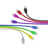 Colorful USB Plugs isolated on white. Vector Royalty Free Stock Photo