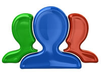 Colorful user group icon Stock Images