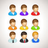 Colorful User Icons. Different vector avatars Royalty Free Stock Photography
