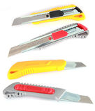 Colorful utility knives Stock Photos