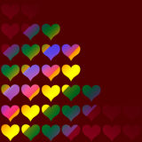 Colorful valentine Stock Photography