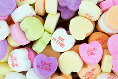 Colorful Valentine Candies with Text Royalty Free Stock Photo