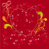 A colorful valentine card/background Stock Image