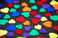 Colorful valentine hearts Royalty Free Stock Images