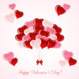 Colorful Valentines balloons Stock Photo