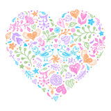 Colorful Valentines heart Stock Images