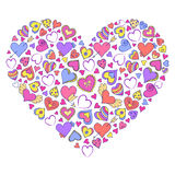Colorful valentines heart Royalty Free Stock Photography
