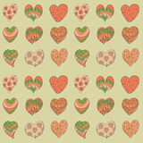 Colorful valentines hearts seamless pattern. Royalty Free Stock Photo