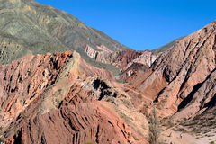 Colorful valley Humahuaca, Argentina Royalty Free Stock Photography