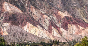 Colorful valley Humahuaca, central Andes Altiplano Stock Image