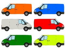 Colorful vans illustration Stock Photo