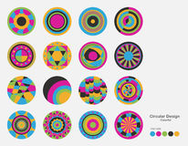 Colorful and variety of circle design. Colorful and variety of circle design with color guide Stock Photography