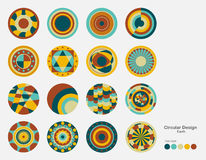 Colorful and variety of circle design. Colorful and variety of circle design with color guide Royalty Free Stock Image