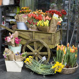 Colorful variety of flowers sold in the market Royalty Free Stock Images