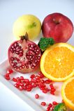 Colorful Variety Healthy Fruits on White Background Royalty Free Stock Photography