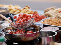 Colorful and variety of street food Stock Photography
