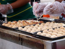 Colorful and variety of street food Royalty Free Stock Photos