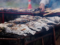 Colorful and variety of street food Royalty Free Stock Images