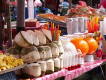 Colorful and variety of street food Stock Photo