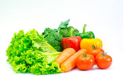 Colorful variety of vegetables for a healthy diet on a white background. Colorful variety of vegetables for a healthy diet on a white background Royalty Free Stock Photography